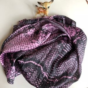 Pure silk snake print scarf